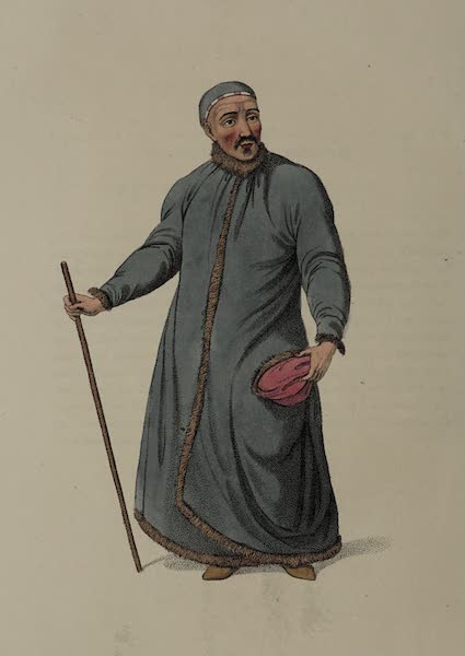 The Costume of the Russian Empire - A Boukharian of Siberia (1803)