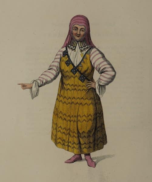The Costume of the Russian Empire - A Mestscherakian Woman (1803)