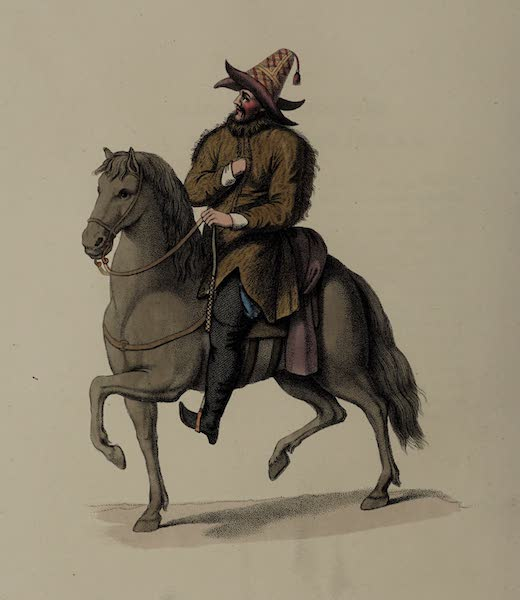 The Costume of the Russian Empire - A Kirghi on Horseback (1803)