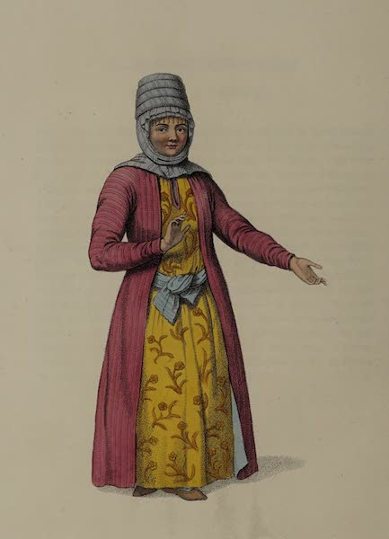 The Costume of the Russian Empire - A Female Kirghi (1803)