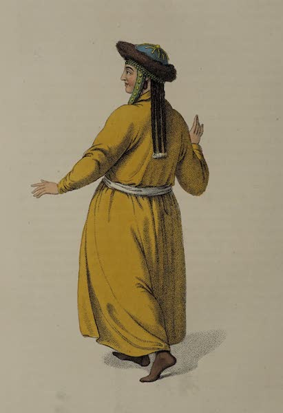 The Costume of the Russian Empire - A Female Tartar, of the Tribe of Teleouti (1803)
