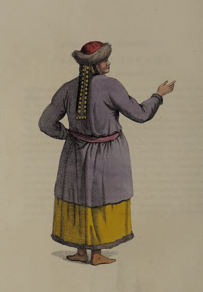 The Costume of the Russian Empire - A Female Tartar, of the Teleouti Tribe, shewing the back part of her dress (1803)