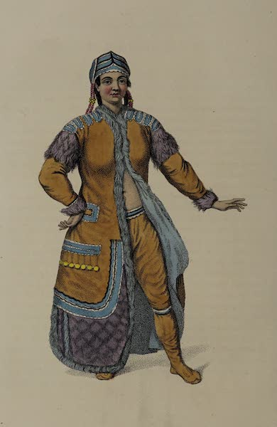 The Costume of the Russian Empire - An Unmarried Female Yakouti (1803)