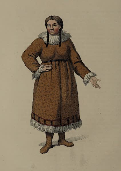 The Costume of the Russian Empire - A Female of Kamtshatka, in her common dress (1803)