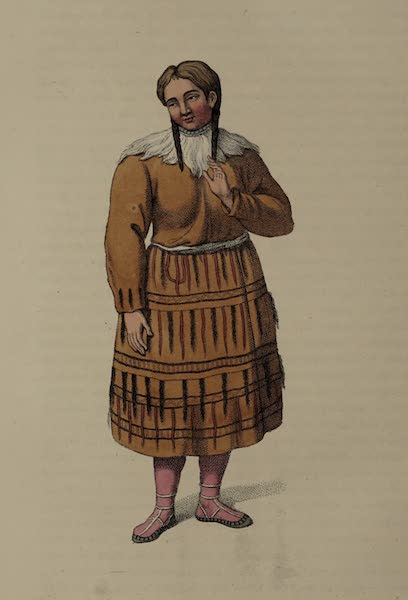 The Costume of the Russian Empire - A Woman of Kamtshatka, in her best dress (1803)