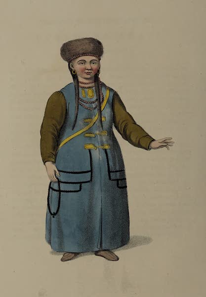 The Costume of the Russian Empire - A Mongole Woman (1803)