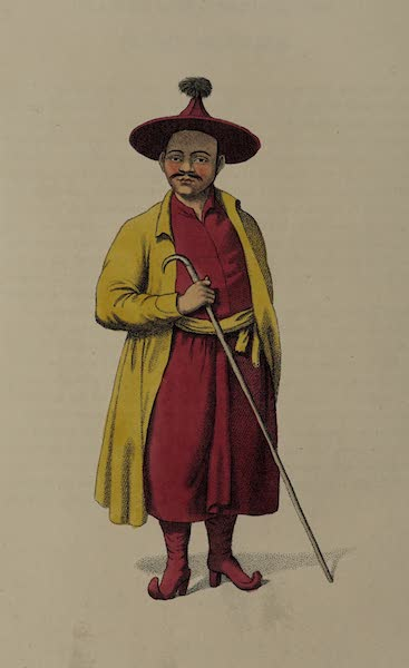 The Costume of the Russian Empire - A Mongole Priest, or Lama (1803)