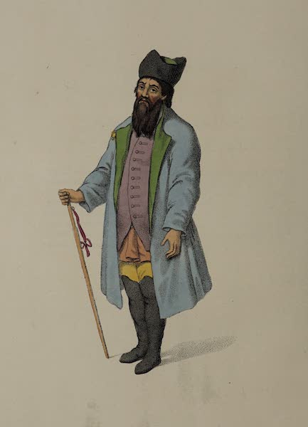 The Costume of the Russian Empire - A Merchant of Kalouga (1803)