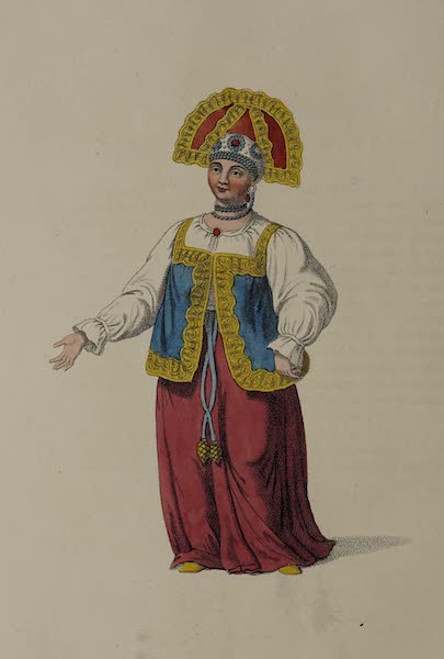 The Costume of the Russian Empire - A Woman of Kalouga, in her Summer Dress (1803)