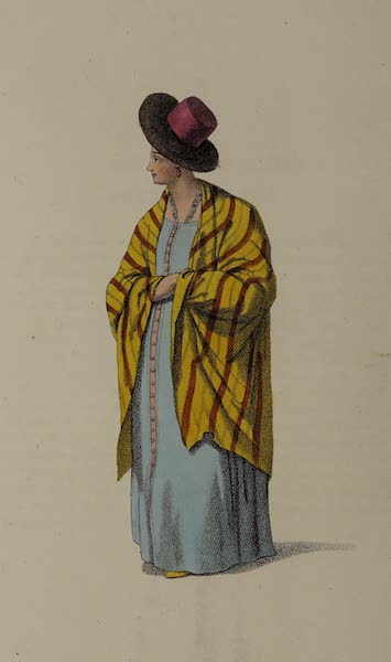 The Costume of the Russian Empire - A Married Oman of Waldai (1803)