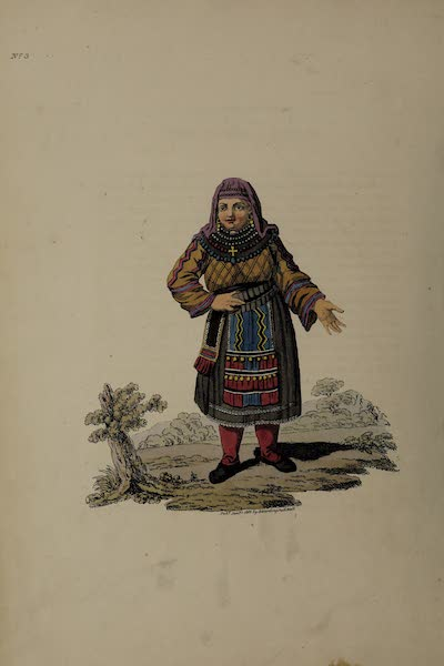 The Costume of the Russian Empire - A Female Peasant of Finland (1811)
