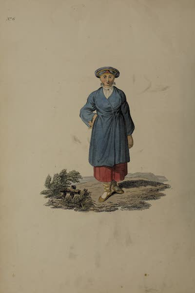 The Costume of the Russian Empire - A Female Peasant of Ingria (1811)