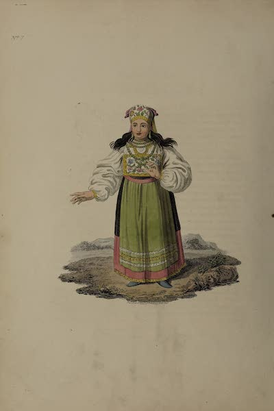The Costume of the Russian Empire - A Woman of Esthonia (1811)