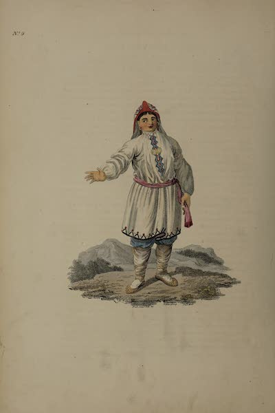 The Costume of the Russian Empire - A Female Tschermiss in her Summer Dress (1811)