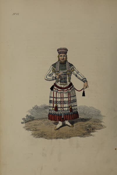 The Costume of the Russian Empire - A Mordvin Woman of the Mokchanian Tribe (1811)