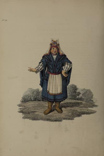 The Costume of the Russian Empire - A Female Votiak (1811)