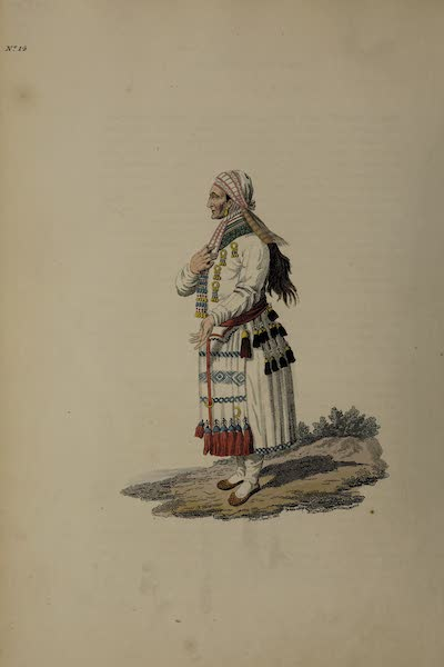 The Costume of the Russian Empire - An Old Mordvin Woman of the Mokchanian Tribe (1811)