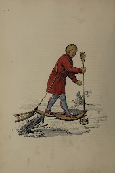 The Costume of the Russian Empire - An Ostiak Ermine-hunting (1811)