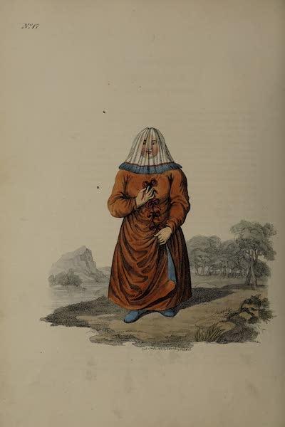 The Costume of the Russian Empire - A Female Ostiak (1811)
