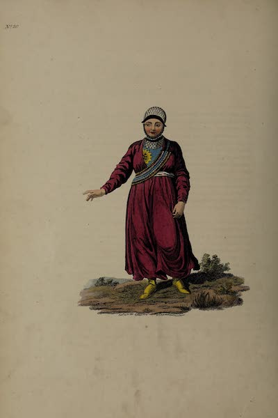 The Costume of the Russian Empire - A Female Tartar of Kazan (1811)