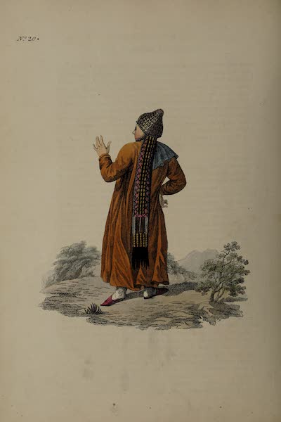 The Costume of the Russian Empire - Back Figure of a Female Tartar of Kazan (1811)