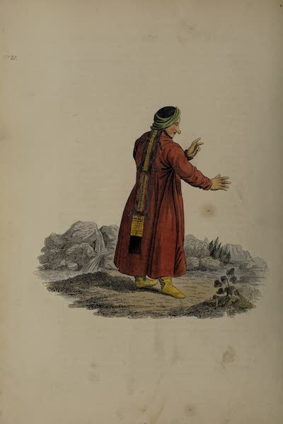 The Costume of the Russian Empire - A Female of the Nogais Tribe of Tartars (1811)