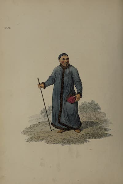 The Costume of the Russian Empire - A Bukharian of Siberia (1811)