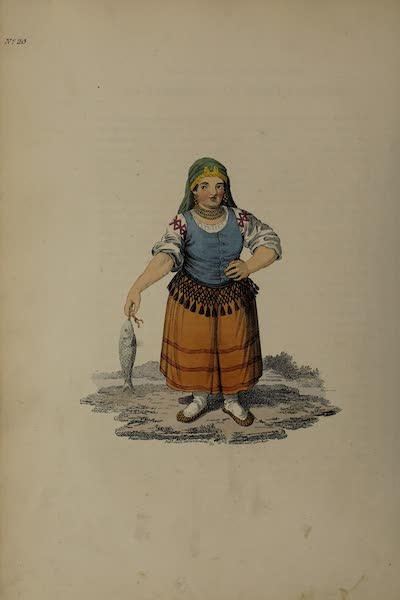 The Costume of the Russian Empire - A Female Kabardian of Mount Caucasus (1811)