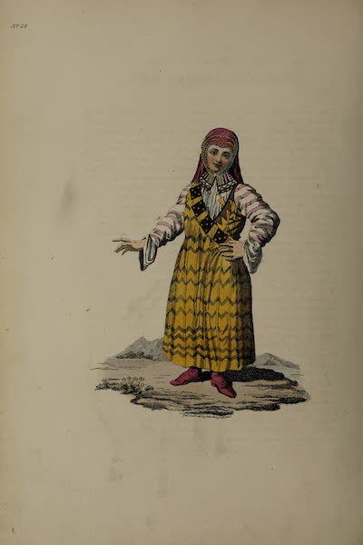 The Costume of the Russian Empire - A Female Mestscheraik (1811)