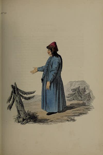 The Costume of the Russian Empire - A Barabintzian Girl (1811)