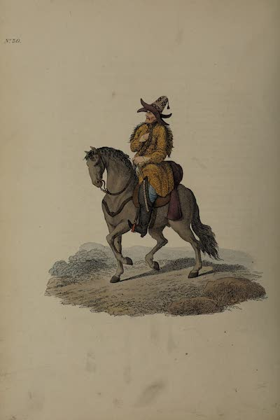 The Costume of the Russian Empire - A Kirghis on Horseback (1811)
