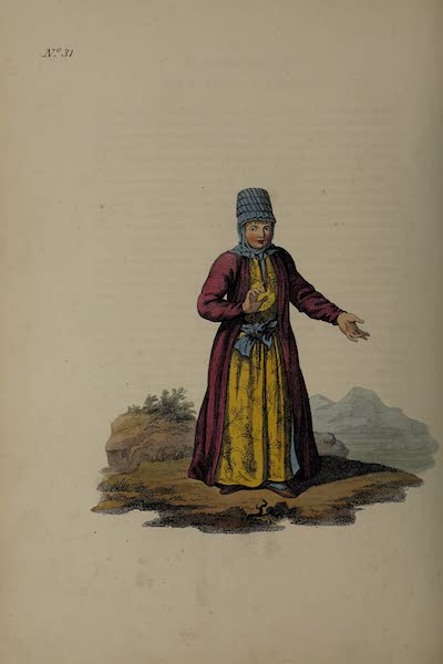 The Costume of the Russian Empire - A Female Kirghis (1811)