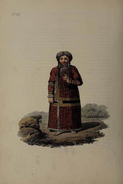 The Costume of the Russian Empire - A Katschintzian Tartar Woman (1811)