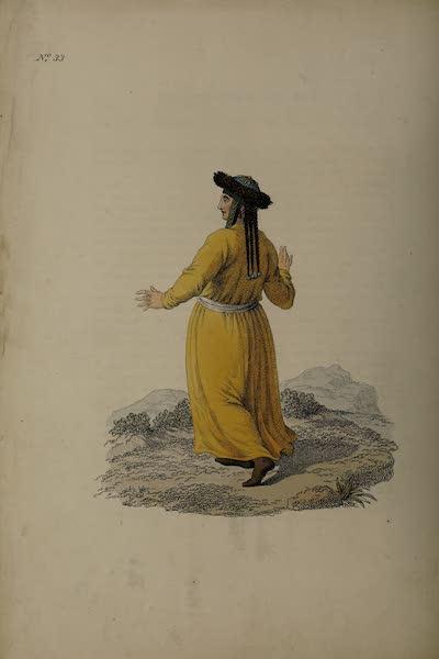 The Costume of the Russian Empire - A Tartar Woman of Kousnetzk (1811)