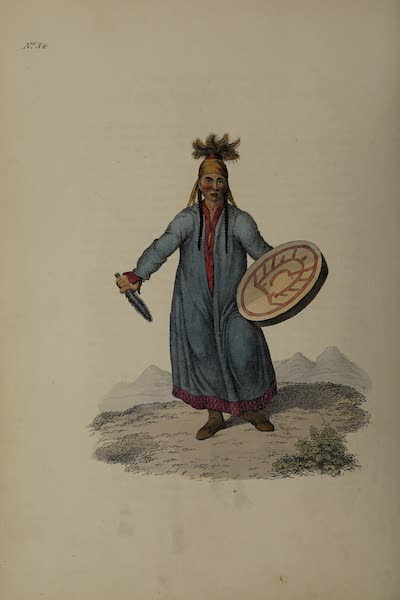 The Costume of the Russian Empire - A Female Schaman, or Sorceress of Krasnajarsk (1811)