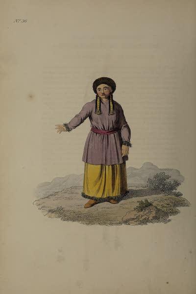 The Costume of the Russian Empire - A Tartar Girl of Kousnetzk (1811)