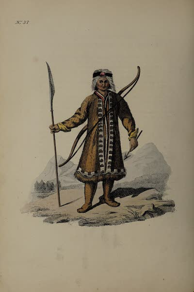 The Costume of the Russian Empire - A Yakut in his Hunting Dress (1811)