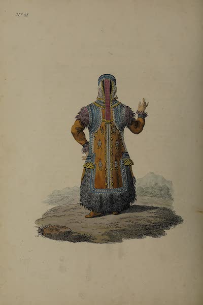 The Costume of the Russian Empire - Back Figure of a Yakutan Girl (1811)