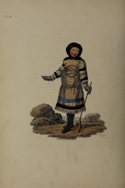 The Costume of the Russian Empire - A Female Samoyede (1811)