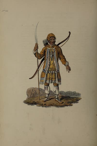 The Costume of the Russian Empire - A Tongusian in his Hunting Dress (1811)