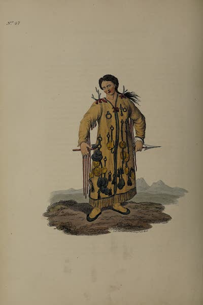 The Costume of the Russian Empire - A Tongusian Priest, in the Vicinity of the Argoun (1811)