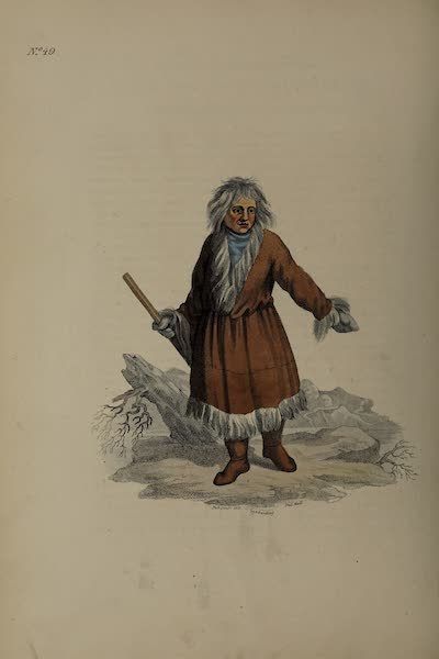The Costume of the Russian Empire - A Kamtschadale in his Winter Dress (1811)