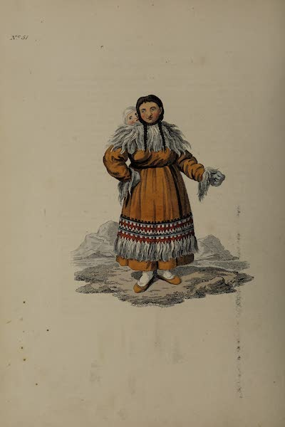 The Costume of the Russian Empire - A Woman of Kamtschatka in her Holiday Dress (1811)