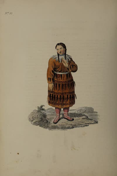 The Costume of the Russian Empire - A Woman of Kamtschatka in her richest Apparel (1811)