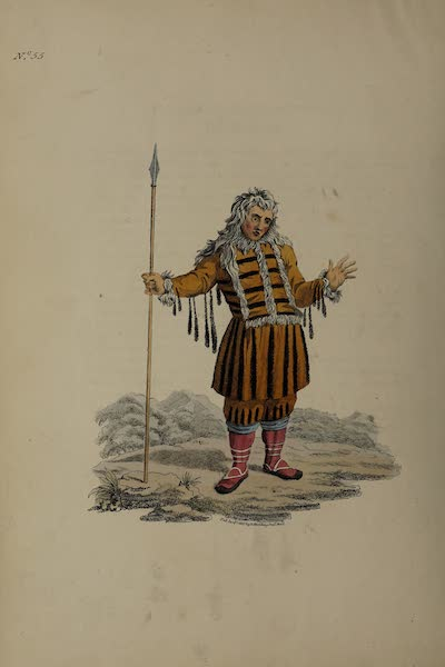 The Costume of the Russian Empire - A Koriak in his Holiday Dress (1811)
