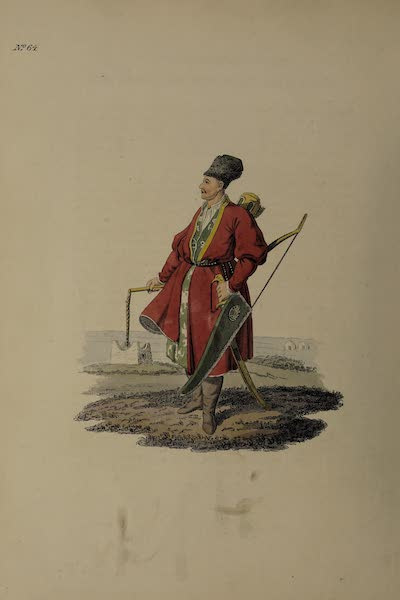 The Costume of the Russian Empire - A Turcoman, with his Bow, &c (1811)