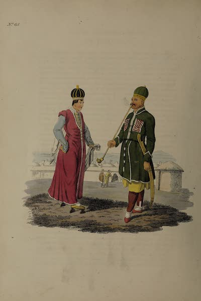 The Costume of the Russian Empire - A Circassian of distinction in his ordinary Dress, and a Princess of that Nation (1811)