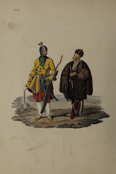 The Costume of the Russian Empire - A Circassian Prince or Nobleman completely armed (1811)