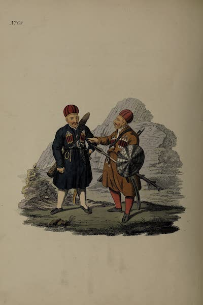 The Costume of the Russian Empire - Two Ingushians (1811)