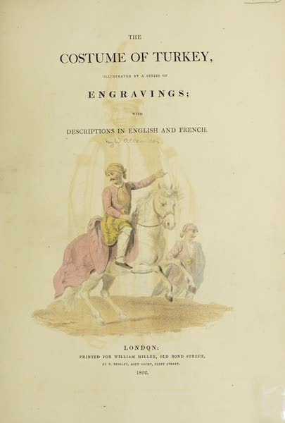 The Costume of Turkey - Title Page [English] (1802)